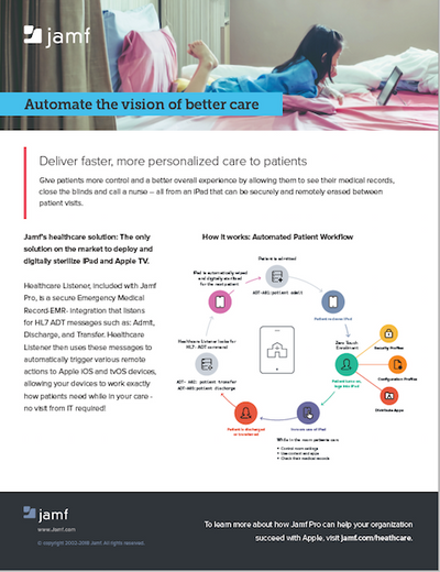 Jamf Pro for Patient Bedside | Jamf