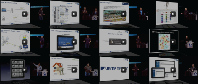12 screenshots of videos from the 2012 JAMF Nation User Conference