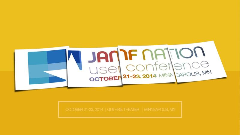 JAMF Nation User Conference | Guthrie Theater | October 21-23, 2014