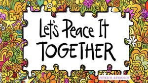 Let's Peace it TOGETHER surrounded by flower-covered puzzle pieces