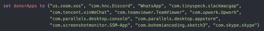 Code snippet that locates and returns currently installed apps that have the permissions the malicious app will require to execute properly.
