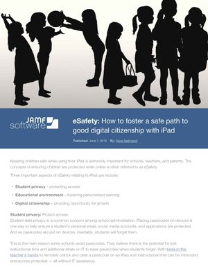 eSafety: How to foster a safe path to good digital citizenship with iPad