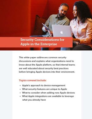 Security considerations for Apple in the Enterprise cover
